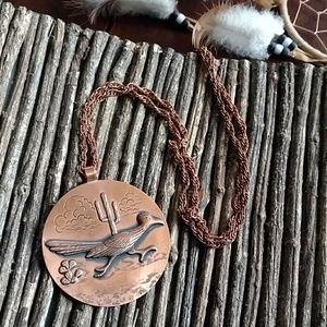Boho native Bell Copper Pendant Chain Necklace